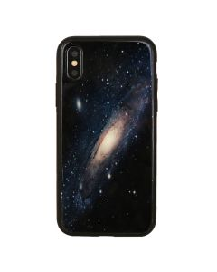 Carcasa iPhone XS / X Just Must Glass Print Galaxy