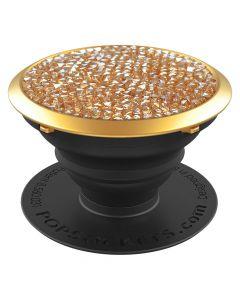 Suport Popsockets Stand Adeziv Golden Shadow cu Cristale Swarovski