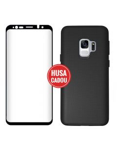 Pachet promo Samsung Galaxy S9 G960 Eiger Sticla 3D + North Case Clear Black