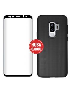 Pachet promo Samsung Galaxy S9 Plus G965 Eiger Sticla 3D + North Case Clear Black