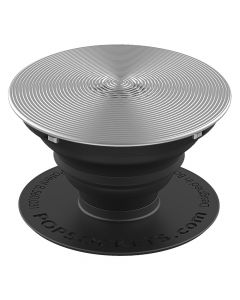 Suport Popsockets Stand Adeziv Aluminiu Twist Grey