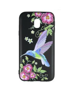 Husa Samsung Galaxy J3 (2017) Just Must Silicon Printed Embroidery Colibri