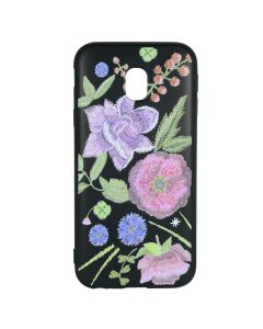 Husa Samsung Galaxy J3 (2017) Just Must Silicon Printed Embroidery Flowers