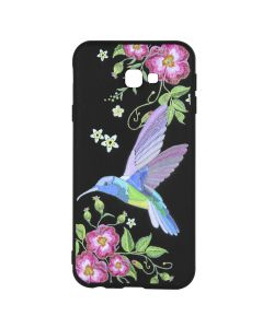 Husa Samsung Galaxy J4 Plus Just Must Silicon Printed Embroidery Colibri