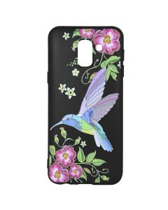Husa Samsung Galaxy J6 (2018) Just Must Silicon Printed Embroidery Colibri