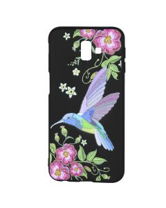 Husa Samsung Galaxy J6 Plus Just Must Silicon Printed Embroidery Colibri