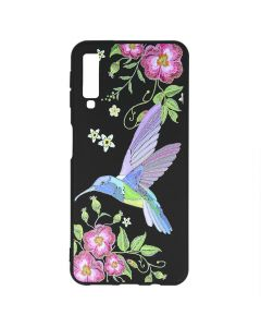 Husa Samsung Galaxy A7 (2018) Just Must Silicon Printed Embroidery Colibri