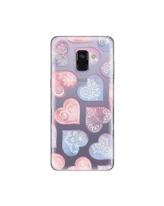 Husa Samsung Galaxy A8 (2018) Lemontti Silicon Art Hearts