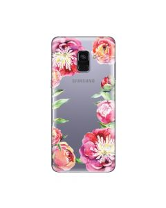 Husa Samsung Galaxy A8 (2018) Lemontti Silicon Art Flowers