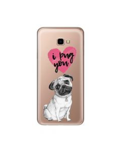 Husa Samsung Galaxy J4 Plus Lemontti Silicon Art Pug You