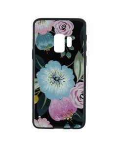 Carcasa Samsung Galaxy S9 G960 Just Must Glass Diamond Print Flowers Black Background