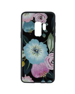 Carcasa Samsung Galaxy S9 Plus G965 Just Must Glass Diamond Print Flowers Black Background