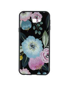 Carcasa Samsung Galaxy J4 Plus Just Must Glass Diamond Print Flowers Black Background