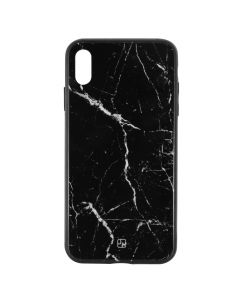 Carcasa iPhone XS Max Just Must Glass Print Black Marble
