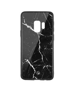 Carcasa Sticla Samsung Galaxy S9 G960 Just Must Glass Print Black Marble