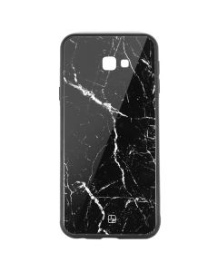 Carcasa Sticla Samsung Galaxy J4 Plus Just Must Glass Print Black Marble
