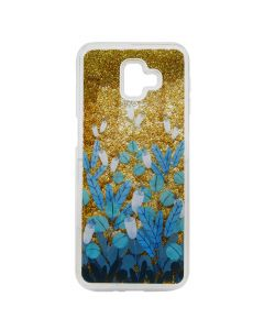Carcasa Samsung Galaxy J4 Plus Lemontti Liquid Sand Blue Flowers