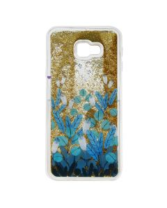 Carcasa Samsung Galaxy J4 Plus Lemontti Liquid Sand Blue Flowers