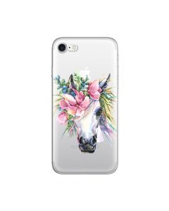 Husa iPhone 8 / 7 Lemontti Silicon Art Watercolor Unicorn