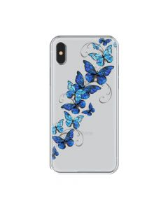 Husa iPhone XS / X Lemontti Silicon Art Butterflies