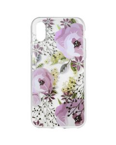 Husa iPhone XS / X Lemontti Silicon Art Flowers