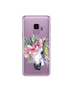 Husa Samsung Galaxy S9 G960 Lemontti Silicon Art Watercolor Unicorn