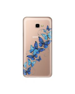 Husa Samsung Galaxy J4 Plus Lemontti Silicon Art Butterflies