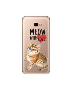 Husa Samsung Galaxy J4 Plus Lemontti Silicon Art Meow With Love