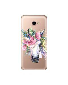 Husa Samsung Galaxy J4 Plus Lemontti Silicon Art Watercolor Unicorn