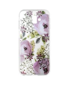 Husa Samsung Galaxy J6 Plus Lemontti Silicon Art Flowers
