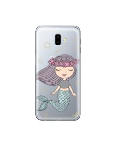 Husa Samsung Galaxy J6 Plus Lemontti Silicon Art Little Mermaid