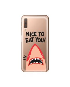 Husa Samsung Galaxy A7 (2018) Lemontti Silicon Art Nice To Eat You