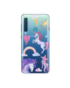 Husa Samsung Galaxy A9 (2018) Lemontti Silicon Art Unicorn