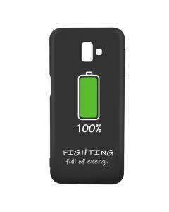 Husa Samsung Galaxy J6 Plus Lemontti Silicon Black Silky Art 100% Fighting