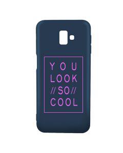 Husa Samsung Galaxy J6 Plus Lemontti Silicon Blue Silky Art You Look So Cool Magenta