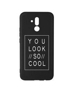 Husa Huawei Mate 20 Lite Lemontti Silicon Black Silky Art You Look So Cool White