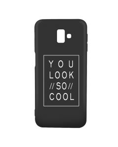 Husa Samsung Galaxy J6 Plus Lemontti Silicon Black Silky Art You Look So Cool White