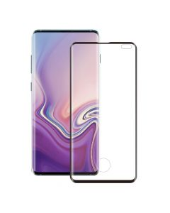 Folie Samsung Galaxy S10 Plus G975 Eiger Sticla 3D Edge to Edge Clear Black