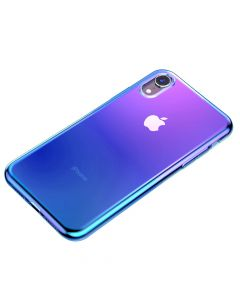 Husa iPhone XR Baseus Glow Transparent Blue