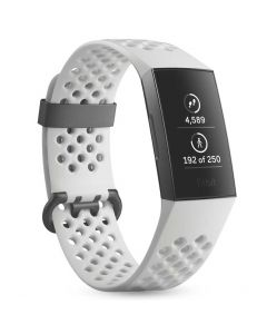 Fitbit Bratara Fitness Charge 3 Special Edition (NFC) Graphite / White Silicone