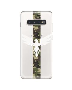 Husa Samsung Galaxy S10 Plus G975 Lemontti Silicon Art Army Eagle