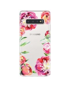 Husa Samsung Galaxy S10 Plus G975 Lemontti Silicon Art Spring Flowers