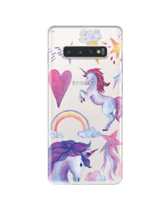 Husa Samsung Galaxy S10 Plus G975 Lemontti Silicon Art Unicorn