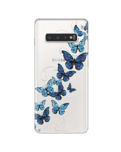 Husa Samsung Galaxy S10 Plus G975 Lemontti Silicon Art Butterflies