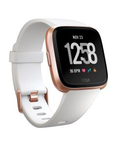 Smartwatch Fitbit Versa (NFC) White Band / Rose Gold Case Aluminum