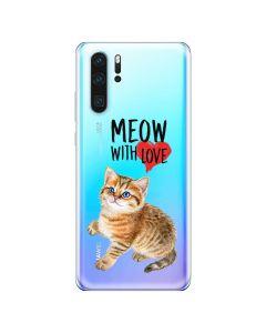 Husa Huawei P30 Lemontti Silicon Art Meow With Love