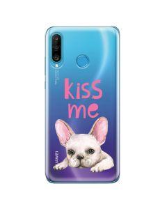 Husa Huawei P30 Lite Lemontti Silicon Art Pug Kiss