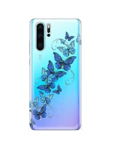 Husa Huawei P30 Pro Lemontti Silicon Art Butterflies