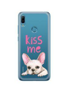 Husa Huawei Y6 2019 Lemontti Silicon Art Pug Kiss