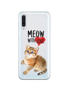 Husa Samsung Galaxy A50 Lemontti Silicon Art Meow With Love